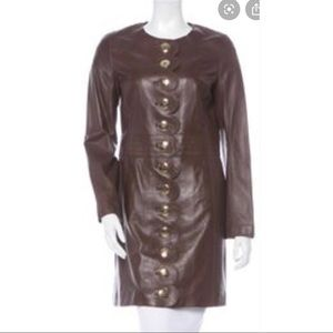 Tory Burch Cordelia Leather Jacket Brown med NWT